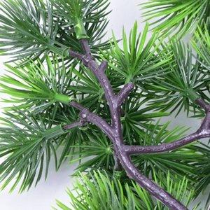 Çam Ağacı Dallar Yapay Plastik Pinaster Cypress Noel süsleri yeşillik çiçek aranjmanı Yapraklar çelenk yaprak düşmek