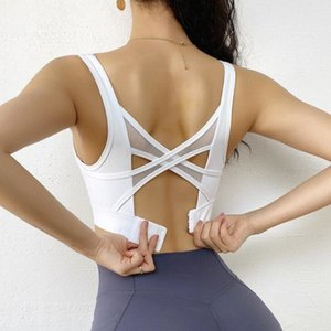 Female Sexy Sports Bra Adjustable Back Buckle Bra Women Fixed chest pad Running Gather Quick-Drying Yoga Fitness Vest Ladies