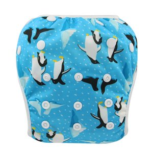 Newborn Diaper Cover Printed Swimsuit One Size Fits All Cloth Diapers Waterproof Unisex Swim Diaper for Baby in Swimming Pool