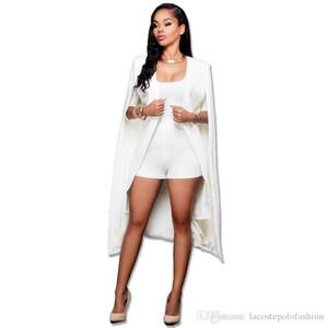 Tasarımcı Uzun Cape Moda Katı Office Lady Ceket İş Donna V Yaka Hırka Coats Womens