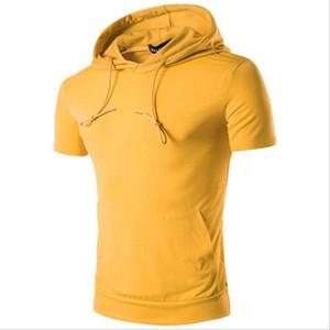 Simple men Tight shirt mens t shirts Sport Fitness Tops Summer Sportswear Hot Sale