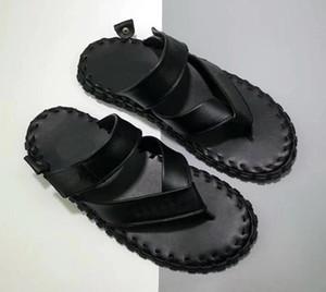 A estrenar Forzado 1 07 LV8 Hombres Zapatillas de diseño Chanclas Crochet Zapatillas de cuero genuino Moda de Verano Verano Zapatillas Casuals caliente