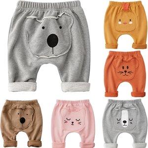 Autumn recém-nascidos crianças Bebés Meninos Animais Cartoon Girls calças compridas calças quentes algodão macio calças compridas Leggings Pants 0-2T