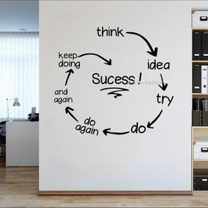 El éxito de Presupuestos Oficina Adhesivos de pared Paredes empresario decoración del arte pegatinas de pared inspirada Home Office Etiqueta Fondos