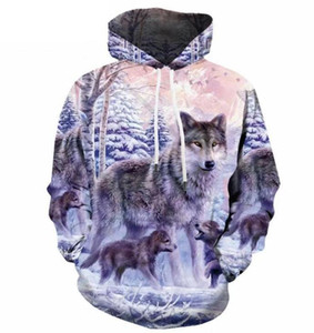 2019 hot sell free shipping Snow Wolf Head 3D Hoodies Sweatshirts Hoodies Sweatshirt Lovers'Hoodies & Sweatshirts Clothes