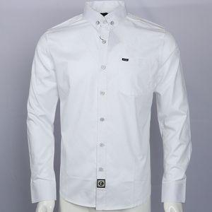 homme вышивка 100%хлопок бренд рубашки camisa masculina мужчины с длинным рукавом рубашки Мужские социальные hombre eden park faconnable сорочки