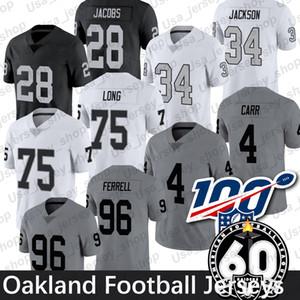 Oakland Josh Jacobs Jersey 4 Derek Carr 24 Marshawn Lynch 34 Bo Jackson 96 Clelin Ferrell 60 Yama Futbol Formalar