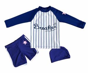 Bonverano(TM) Toddler Boys' Sunsuit Swimwear set UPF 50+ Sun Protection Two Pieces Navy White Swimsuit Rashguard