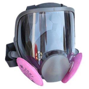 9 In 1 Malerei Sprühen Sicherheit Atemschutzmaske Gasmaske Gleiche für 6800 Gasmaske Full Face Facepiece Atemschutzmaske auf Lager