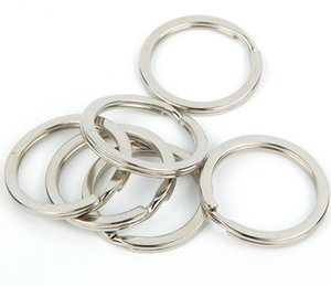 custom simple silver stainless steel o keychain 25mm metal round key chain ring split ring for key chain