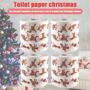 Hot selling Christmas Pattern Series Roll Paper Prints Funny Toilet Paper Festival Supplies Santa Claus Xmas Decor Tissue Roll