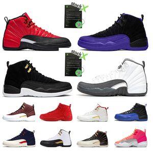 Nike air jordan 11 12s Nuovo 4 6s mens Scarpe da basket Gym red Bulls Flu gioco Taxi BORDEAUX College navy Dark Grey designer uomo Sports Sneakers taglia 7-13