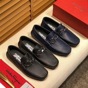 Hommes 2019 en cuir véritable Chaussures bateau Penny Casual Mocassins Hommes Luxe Marques Robe Chaussures Slipon Driving Mocassins pour les hommes Skor