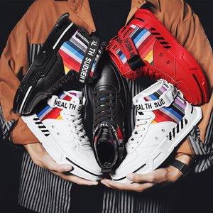 2020 Nuove uscite Università rossi stivali di marca Mens Skateboard Scarpe Nero Bianco Uomo Scarpe da ginnastica piattaforma Sneakers EUR 39-44 fatti in casa
