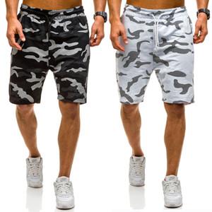 Männer beiläufige Baumwolle Camouflage lose Cargo-Shorts Männer Shorts Herren Sommer Hiphop-Taschen Camo Short Jogginghose