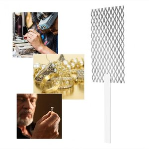 Accessoires 20 * 5cm platiné Titanium Mesh Anode Rhodium bijoux Electroplating Plater Mesh avec poignée bijoux outil orfèvre bijoutier