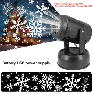 LED عيد الميلاد ليزر ندفة الثلج العارض دش الضوء في الهواء الطلق مصباح المناظر الطبيعية في عطلة الرئيسية حفلة عيد الميلاد الديكور كرافت