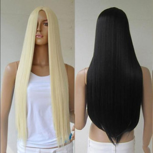 ePacket free shipping >Women's Long Straight Hair Full Wig Heat Resistant Cosplay Wig No bangs