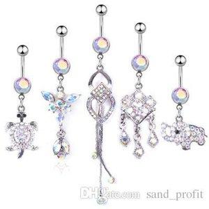 Botão alto animal Qualidade borlas Navels Crystal Fashion de Bell Rings Mulheres Designer Navels Body Jewelry Factory Direct Sale