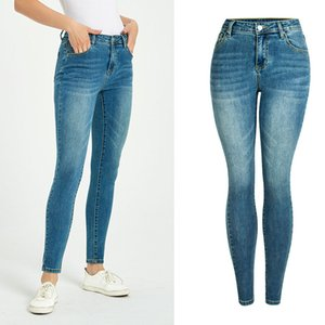 Mujer Vintage Stretch Skinny Jeans 2020 Primavera de verano Jeans para mujer para mujer Ropa Femme Denim Lápiz Pantalones Pantalones casuales
