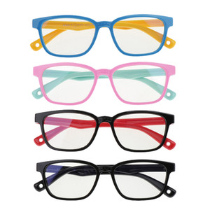 4pcs Kids\'s Stylish Anti Blue Light Soft Silicone Frame Eyewear