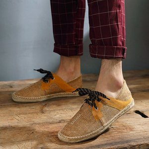 2019 New Canvas Summer Fabric Male Soleso Espadrille Casual Men Fisherman Light Hemp Fashion Shoes Shoes Flats Shoes Shoes Hvtsw