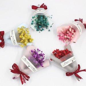 1Pcs Sky Estrelas Flores estrelado Natural Flores secadas Mini Packaging presentes do casamento Decoração Foto Props DIY Artesanato Dropship