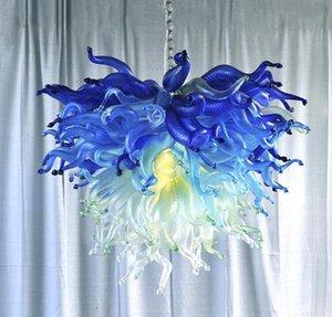 Contemporary Glass lámpara de araña de cristal moderno restaurante dirigido soplado a mano de cristal colgante de las luces de la sala de estar