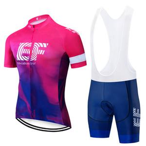 2019 EF À Manches Courtes Vélo Jersey Bib Set VTT Vêtements VTT Vélo Vêtements Maillot Ropa Ciclismo vêtements de sport