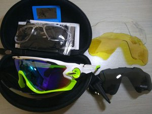 Atacado-2019 Moda óculos de sol com 4 Lens Marca polarizada Jawbreaker Sunglasses ForMenport ciclismo da bicicleta Correndo Mens Sunglasses