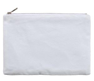 10pcs Cosmetic Bag 6*9inch Sublimation White Blank Canvas makeup bag with gold zip gold lining