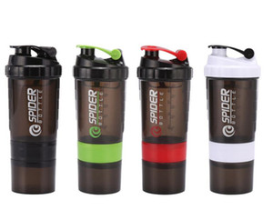 500 ml Protein Shaker Blender Mixer Cup Deportes Entrenamiento Fitness Gym Training 3 Capas Multifunción BPA Free Shaker Botella de agua Contenedor