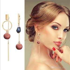 NEW Gold Metal Long Circle Pendant Earings Tassel Earrings for Women Fashion Jewelry Statement Geometric Voor Vrouwen