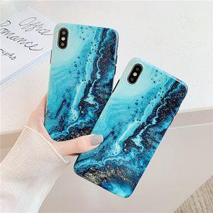 Gilding Water Wave Mármore da Apple Xs Max Mão Shell Xr Aplicar Iphone11pro Soft Shell 7 / 8plus Mulher