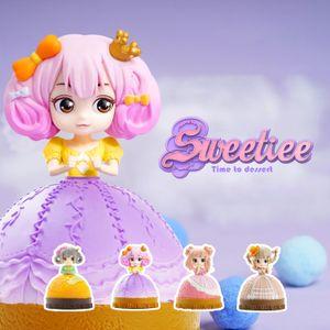Симпатичные Sweetiee конфеты принцессы куклы, Blind Box, торт Преобразовать в Хорошенькая девочка, 4 Стили, Украшение Xmas Kid именинница Gift, Collect, 2-1