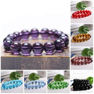 Bracelets de perles Stretch 8mm Pierre Naturelle Perles Cornaline Améthyste Perles Rondes Bracelet Violet Guérison Cristal Bracelets