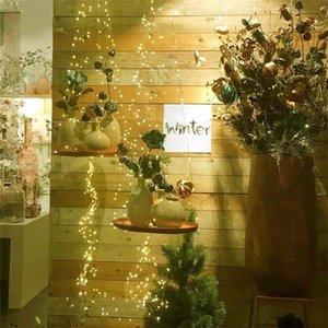 2m 5m 10m 20led 50led 100 LED String Lights Bateria operada com fios de Cobre À Prova de água remotos para decorações interiores