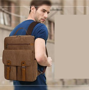 Shoulder bag ladies men's universal canvas computer outdoor large-capacity school bag travel and leisure large