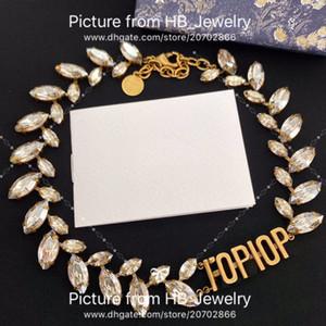2020 Mode-Marke haben Briefmarken-Designer-Halskette für Dame Frauen Party Hochzeit Liebhaber Geschenk Engagement Luxus Schmuck für Braut mit Box