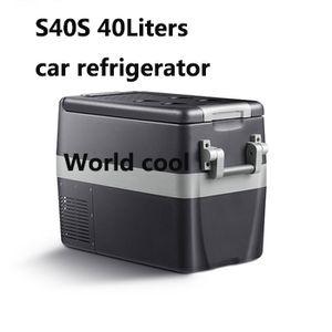 40L AC DC12V24V Car Refrigerator car freezer cooler box camping Portable Mini Fridge Compressor Refrigerator Fridge