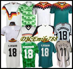 Coupe du monde 1990 1994 1988 Allemagne Retro Littbarski BALLACK Soccer Jersey KLINSMANN Matthias maison 2014 chemises KALKBRENNER JERSEY 1996 2004