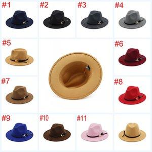 Мужская шерстяная фетровая шляпа с короткими рукавами Trilby Women Vintage Panama Fedora Cloche Cap Шерстяные войлочные джаз-шляпы 11 цветов