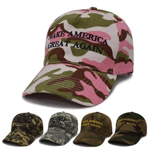 Camouflage Donald Trump Hat America President 2020 Baseball Hat Camo Color with US Flag Trump Golf Caps HHA340