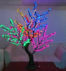 LED Yapay Kiraz Çiçeği Ağacı Işık Noel Light'ın 1152pcs LED Ampuller 2m / 6.5ft Yükseklik 110 / 220VAC Yağmur suyu Açık Kullanım Ücretsiz Kargo