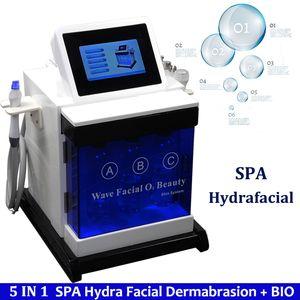 المحمولة هيدرا جلدي الوجه سبا آلة آلة الأكسجين المياه جيت قشر المعدات الحيوي الجلد رفع هيدرو اللوازم الطبية سبا الوجه آلة