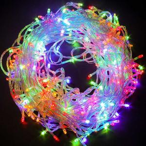 Luci natalizie a LED per esterni 10M 20M 30M 50M 100M 9 colori Luci da fata impermeabili per luci di decorazioni per la casa per feste di nozze