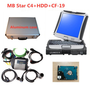 MB Star C4 Ferramenta de diagnóstico com 2020,06 HDD Xentry + DAS + EPC com laptop CF-19 para Mercedes Benz Diagnostic Toolsumum Box