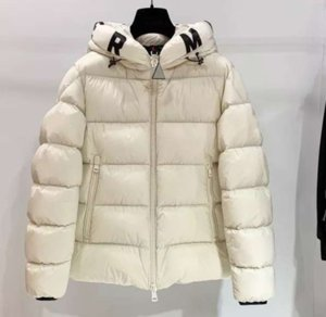 Nueva llegada de lujo del diseñador del Mens Parka Marca abajo cubren Las mujeres Puffer capa de las chaquetas de invierno Conservar el calor de la cremallera Hoode rompevientos X B103443L