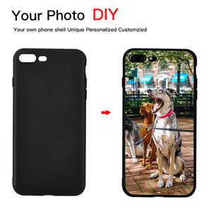 Negro DIY Photo Phone case Imagen personalizada Tapa suave TPU Negro para iPhone X XR XS Max 7 8 7 Plus 6 6S Plus 5 5S SE Coque