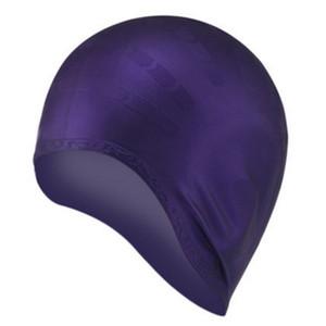 Swim Pool Water Sport silicona impermeable de buceo del oído Gorro de baño de Protección de pelo largo gorros de natación Copa Hat para hombres de las mujeres